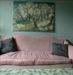 Nice use of mid-range color; lovely couch | agnes emery