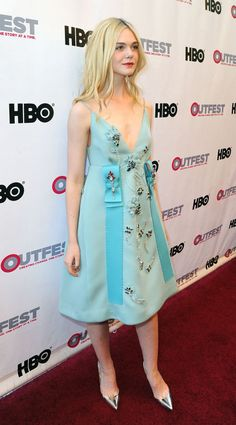 Elle Fanning at an event in L.A. See all of the actress's best looks.