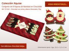 Elegir un regalo dulce para dar a alguien para la Navidad. ¡Nuestros chocolates son irresistibles! Waffles, Sugar, Cookies, Holiday Decor, Breakfast, Desserts, Food, 1, Christmas Chocolates