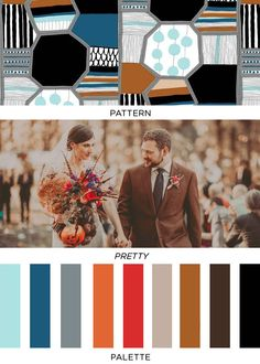 BKLYNBridePost_98, Color Moodboard , Inspiration for Choosing Color Combinations for Art Projects, Interior Design, Color Schemes, Color Combos , Color Palettes with Color Moodboards Color Swatch,  blue, brown, red