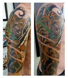 Traditional Japanese tiger. Tattoo by Keenan Knee.
