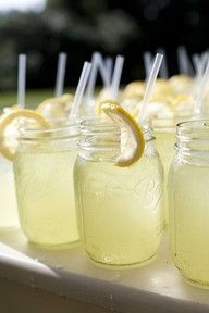 Mason jars.  Lemonade.