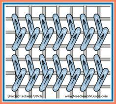 Braided Gobelin Stitch #NeedlepointStitch