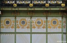 Otto Wagner Pavilon in Vienna, detail