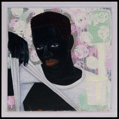 Kerry James Marshall Supermodel 1994 63.5 x 63.5 cm (25 x 25 in.) 2011.1825 Acrylic and mixed media on board