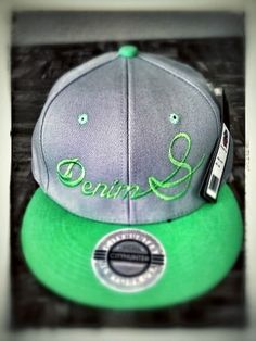 Denim South ready for the springtime with green stitching green bill