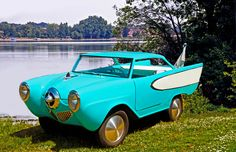 Custom 1964 Amphicar ! Weird Cars, All Cars, Convertible, Amphibious Vehicle, Welcome To The Future, Pedal Cars, Unique Cars, Custom Cars, Vintage Cars