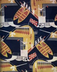 Военно-морской флот. Декоративный сатин, начало 1930-х.
