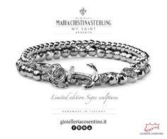 MARIA CRISTINA STERLING |                                 My Saint Argento ▪ Disponibili presso Gioielleria Cosentino, Corso Manfredi 181 | tel.0884 512858  FIND MORE > http://www.gioielleriacosentino.it/it/brands#gioielleriacosentino #mariacristinasterling #bracciali #bracelet #argento #gioielli #madeintuscany #jewellery #ancora #love #italy #manfredonia