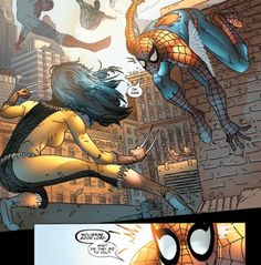 """""""Wolverine...what did they do to you?"""" - Spidey meets X-23"""