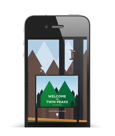 Twin Peaks app concept - Marcos Chamizo | Graphic design & Art direction