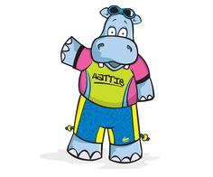 Hatty Hippo - Hatfield Swim Centre's swim school mascot