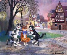 Romantic cat. Tatyana Rodionova.