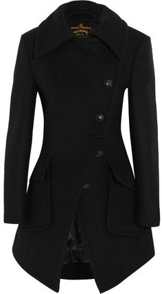 Vivienne Westwood Anglomania - Wool-blend Coat - Black #autumn #fall #style #fashion