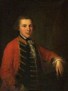 Portrait of a Young Officer in the Cheshire Militia by Angelica Kauffmann (attributed to)