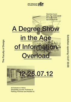 co-op-collective:      Exhibition design for Holon Institute of Technology's 2012degree show.