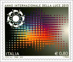 Francobollo celebrativo dell'Anno Internazionale della Luce