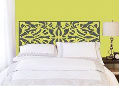 King Headboard decal Vinyl wall sticker by potandkettlestudios - master bedroom