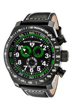 Swiss Legend Mens SL Pilot Chronograph Watch by Strapped For Time: Watch Event on @HauteLook