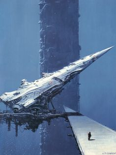Artists featured in this post are: Dean Ellis, Andrei Sokolov, Manchu, Shusei Nagaoka, Tim White and Vincent Di Fate.