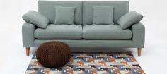 Oskar Three Seat Sofa Sky - Sofas - Sofas & Chairs - Furniture