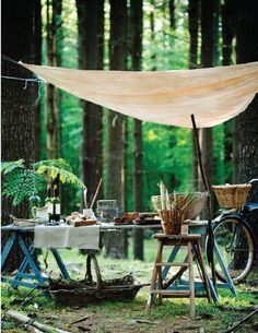 forest picnic/entertaining via sweet paul magazine, Photo: Colin Cooke. Picnic Time, Summer Picnic, Fall Picnic, Garden Picnic, Picnic Parties, Picnic Spot, Dinner Parties, Backyard Picnic, Lunch Time
