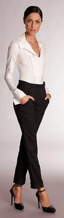 classy business casual. I would probably splash some color on there though.