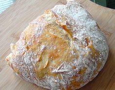 ARTISAN BREAD --  1/2 teaspoon yeast   1 1/2 cups water  1 3/4 teaspoons salt   3 cups unbleached all purpose flour (I use organic)