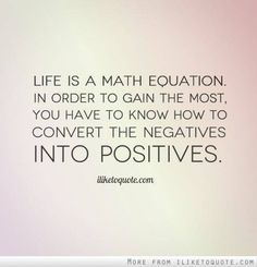 Life is a math equation