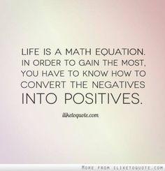 Life is a math equation