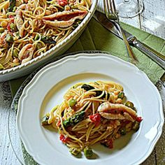 Spaghetti asparagi e filetti di triglie #italianfood  #seafood #recipes