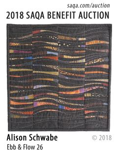 Artwork by Alison Schwabe SAQA Benefit Auction) Scrappy Quilts, Mini Quilts, Man Cave Quilts, Striped Quilt, Striped Fabrics, String Quilts, Contemporary Quilts, Small Quilts, Fabric Art