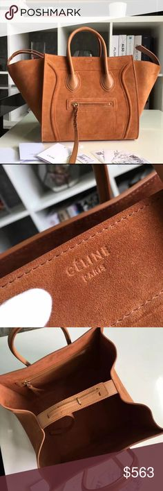 Celine Mini Luggage Leather Bag Pick Your Color! Best quality 1:1 insp. Genuine leather made of the best materials & detailed perfection. I have more colors...just ask! $450 via FB. I can for the most part get you any Bag you want just ask. No matter what brand or style. Thanks! Celine Bags Totes