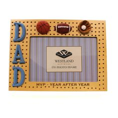 Home & Garden Dad Sports Picture Frame Frame