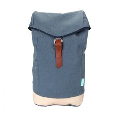 Waris backpacks by Costo are made of premium quality 100% recycled denim. The slot inside holds laptop comfortably. The straps and lid on top are adjustable using the buckles.