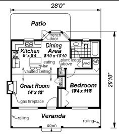 First Floor Plan of Country   House Plan 58515