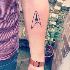 Star Trek tattoo - Starfleet Insignia inner-forearm tattoo