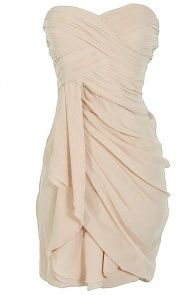 Dreaming of You Chiffon Drape Party Dress in Champagne
