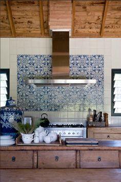 Wooden Benchtop Morrocan Tiles Google Search Mediterranean Tilemediterranean Kitchen Backsplashmorrocan