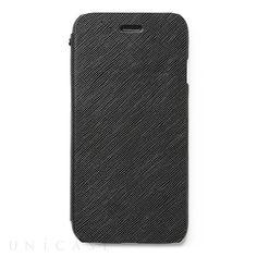 【【iPhone6 ケース】 Minimal Diary ブラック】PRADAの定番素材として知られている高級サフィアーノレザーを…