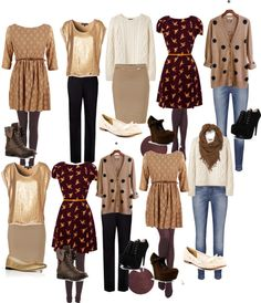 """mix and match fall teacher style for 2 weeks"" by chdfosho on Polyvore"