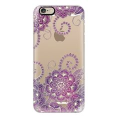 iPhone 6 Plus/6/5/5s/5c Case - Magnolia & Magenta Floral on Crystal... ($40) ❤ liked on Polyvore featuring accessories, tech accessories, iphone case, slim iphone case, transparent iphone case, iphone cover case and floral iphone case