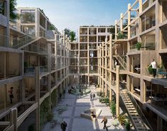 studio BELEM rethinks traditional housing for changing lifestyles post Sustainable Architecture, Residential Architecture, Contemporary Architecture, Landscape Architecture, Social Housing Architecture, Belem, Co Housing Community, Casa Patio, Space Frame