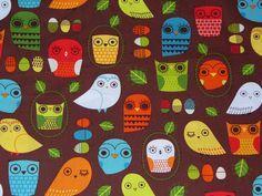 Owls Fabric