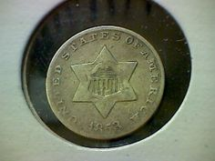 1853 3 Cent Silver Fine F United States Very Cool Coin for Your Collection | eBay