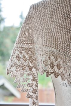 Ravelry: twoknitwit's oatmeal ♦ streusel knit shawl lace