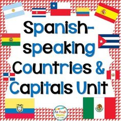 Everything you need to teach your students about Spanish-speaking countries and capitals! Great project and activities to begin the school year with! The project gets students talking about Spanish-speaking countries and gives them a good overview about the different countries whose official language is the one they will be learning in class.