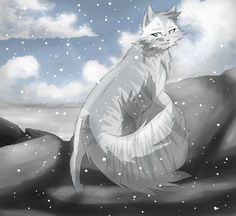Icebreeze she is a very beautiful she cat and everyone adores her. She is loyal, kind, sweet, loves the winter and she loves to climb mountains. She wants a family some day. And she is flirty and a show off. Wants an apprentice (me) mates with Boulderfall and their expecting kits