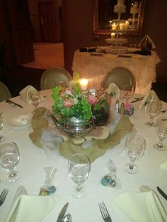 One of the centerpieces from this weekends wedding.Moonflower Cottage.