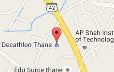 Map of Decathlon Thane